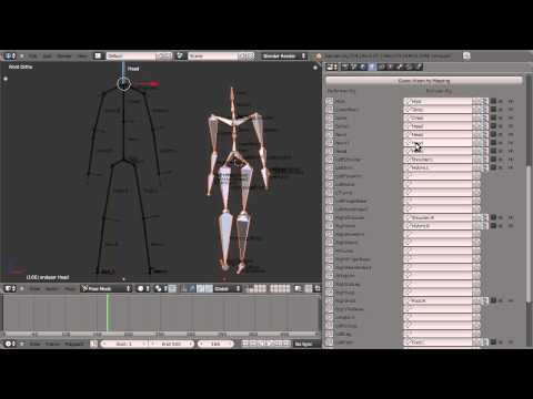 free Human animation based bvh motion capture - Game Engine
