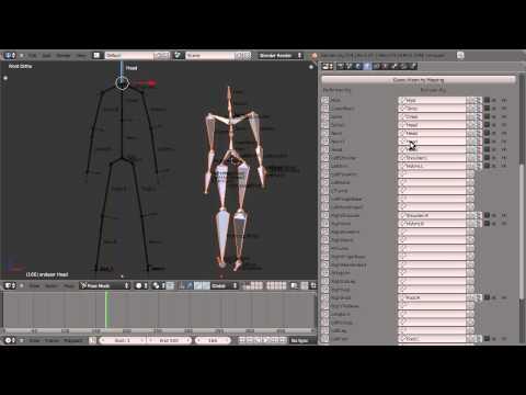 free Human animation based bvh motion capture - Game Engine