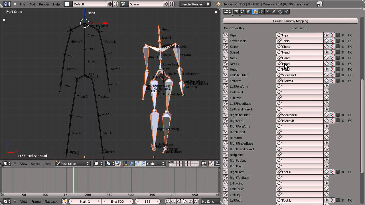 Blender Motion Capture Addon - Tutorial 1 - Basic Retargeting