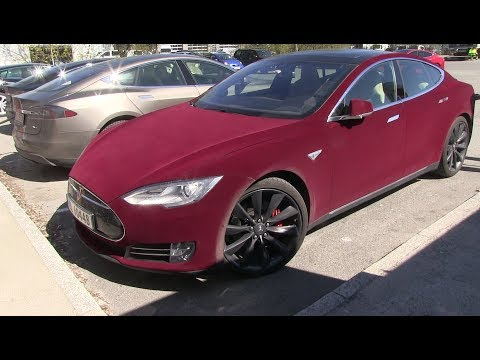 Unique wrapping on Tesla Model S