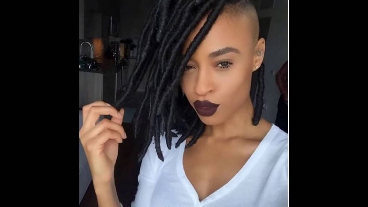 braided & twisted shaved side hairstyles for black women.mp4