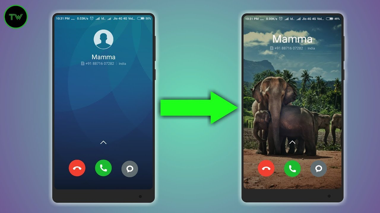 how to change background screen on android