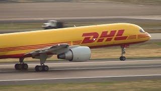 dhl ati 757 200 n531ua takeoff portland airport pdx