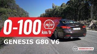 2019 Genesis G80 Ultimate 0-100km/h & engine sound
