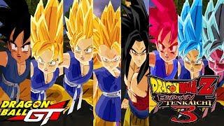Baixar Goku GT SSJ, SSJ2, SSJ3, SSJ4, SSJGod, SSJBlue and SSJBlue Kaioken | DBZ Budokai Tenkaichi 3