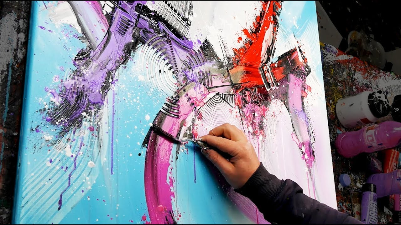 amazing abstract painting acrylics