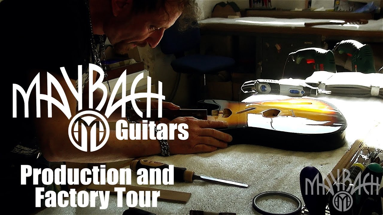 maybach guitars - production and factory tour - youtube