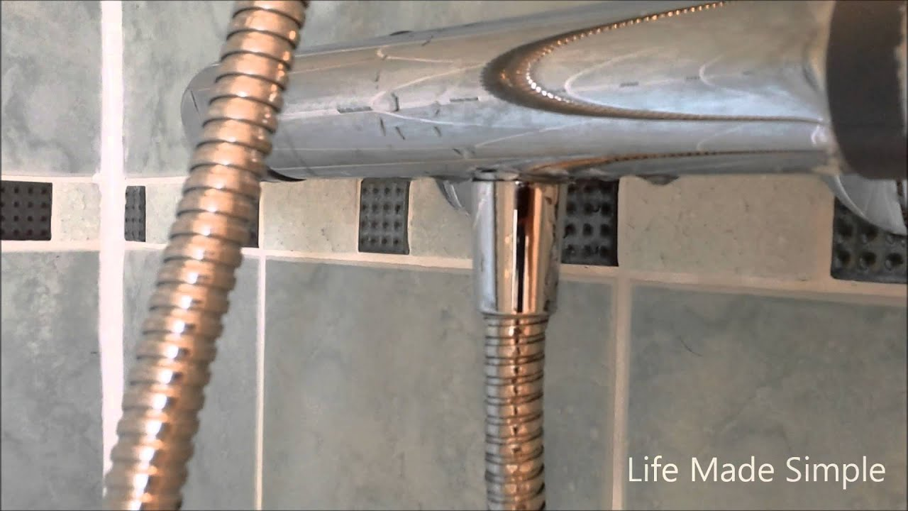 Fixing a leaking shower hose - YouTube