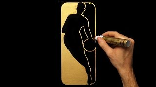How To Draw Gold NBA Logo   Drawing   Draw With Denis