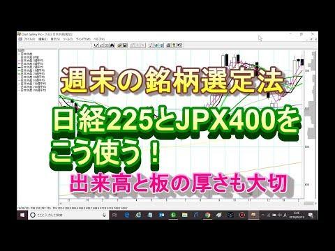 日経225とJPX400を使った週末銘柄選定法(株塾塾生にも投稿)
