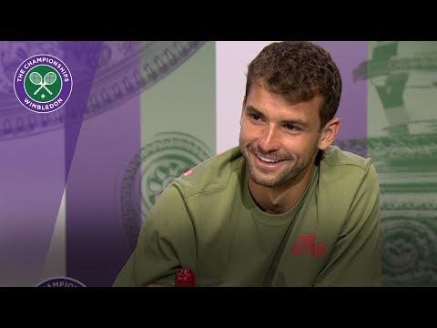 Grigor Dimitrov Wimbledon 2017 second round press conference