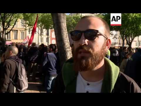 Clashes near National Front rally in France