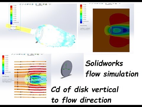 Coefficient of Drag for Vertical Disk using solidworks Flow Simulation