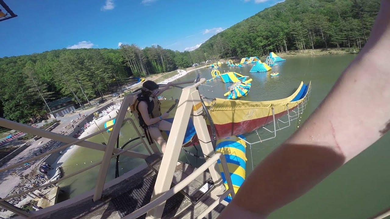 Ace Adventure Water Park Zip Line Youtube