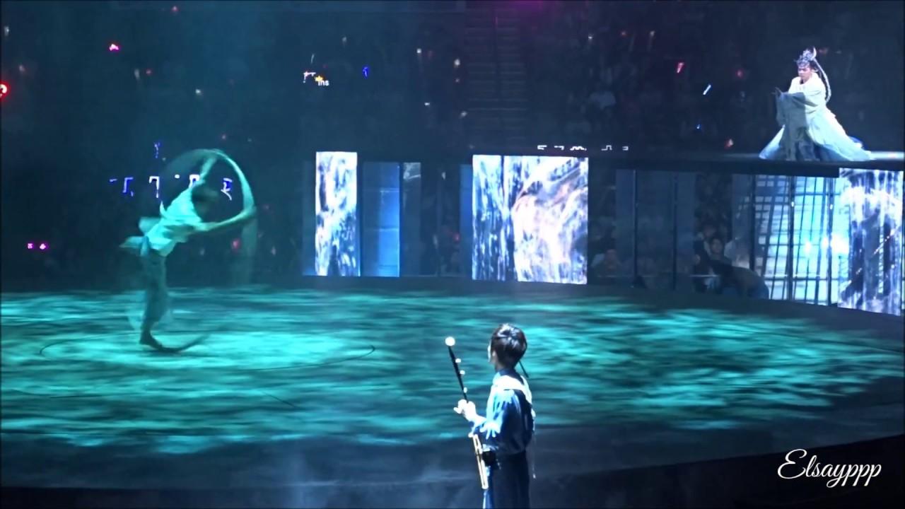 張敬軒 ~《井  》 《大環 + 舞蹈表演 + 尺八 + 二胡 》《高清》(第5場)《Hinsideout 張敬軒演唱會2018》(2018.06.18)