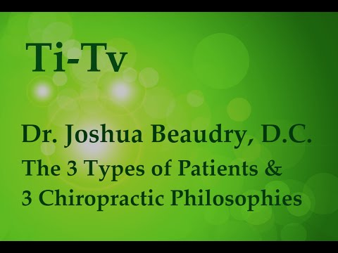 Dr. Joshua Beaudry, D.C. - The 3 Types of Patients & 3 Chiropractic Philosophies