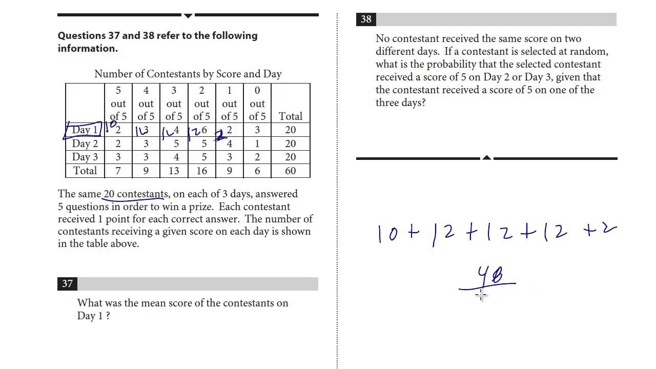 SAT Test 7, Section 4, 37-38