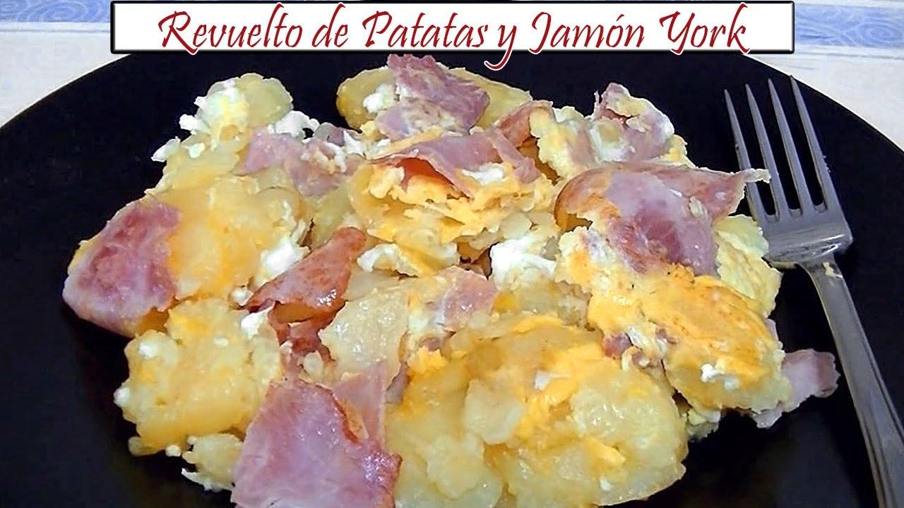 Revuelto De Patatas Y Jamón York Receta De Cocina En Familia