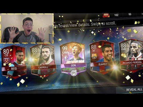 FIFA Mobile INSANE GOLDEN WEEK PACKS + POTM SON COMPLETED!! *88 OVR PULL* FIFA MOBILE PACK OPENING