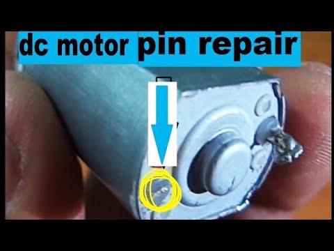 How to repair dc motor brush pin youtube for Dc electric motor repair