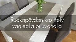 Pöydän käsittely puuvahalla