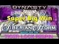 Super Big Win - IGT SIBERIAN STORM Dynasty Edition Slot Machine - Tiger Lock Respin