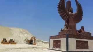 تمثال الحرية على ضفة قناة السويس الجديدة 28يوليو2015