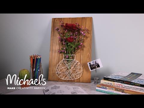 DIY Floral String Art   Michaels