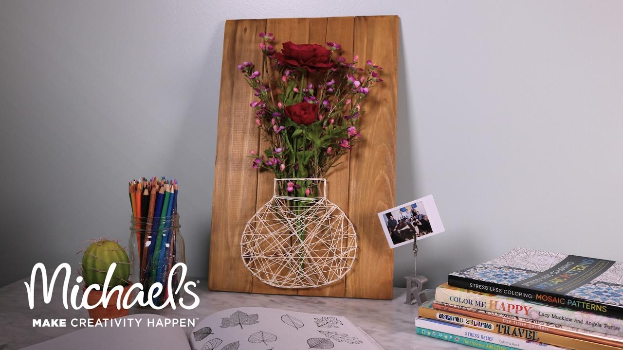 Diy Floral String Art Michaels Youtube