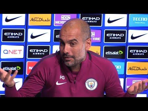 Pep Guardiola Pre-Match Press Conference - Manchester City v Liverpool - Embargo Extras