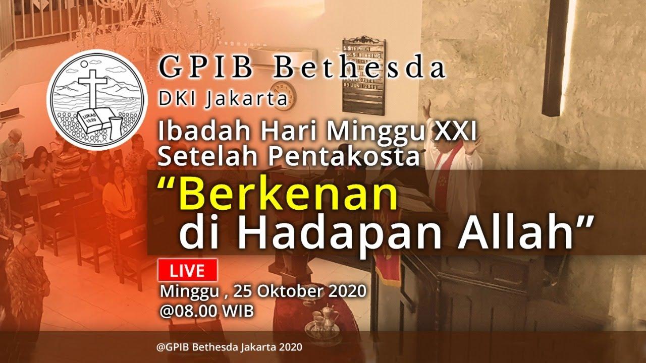 Ibadah Hari Minggu XXI Sesudah Pentakosta (25 Oktober 2020)