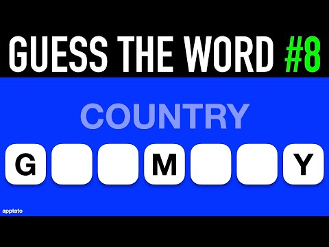 Guess The Word Game #8   General Knowledge Trivia Questions And Answers   Family Game Night