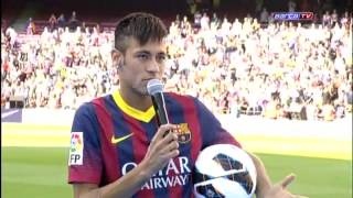 FC Barcelona-Neymar: 'Estoy muy feliz y muy emocionado'!Презентация Неймара в Барселоне!