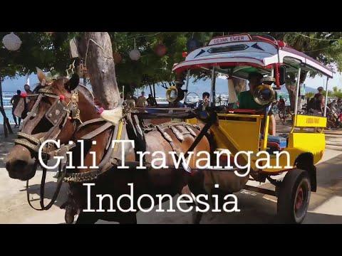 Restaurants and Nightlife on Gili Trawangan Island, just off Lombok Indonesia