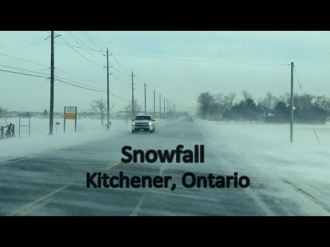 Snow fall - Kitchener, Ontario, Canada (25/March/2016)