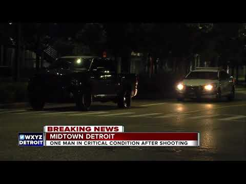 One man in critical condition after shooting in Midtown Detroit