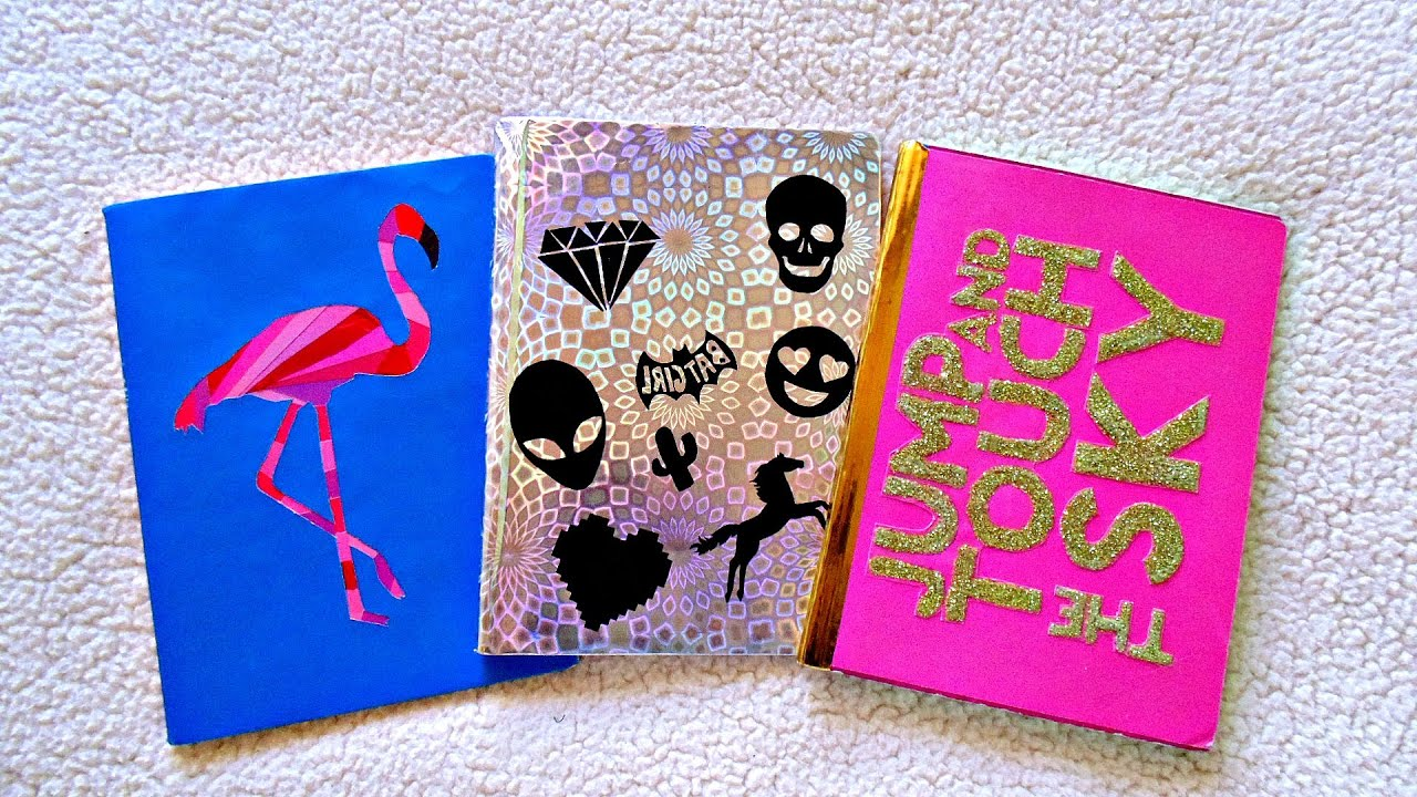 Ideas De Portadas Para Cuadernos Decorar Libretas Con: DIY Decora Tus Cuadernos-regreso A Clases