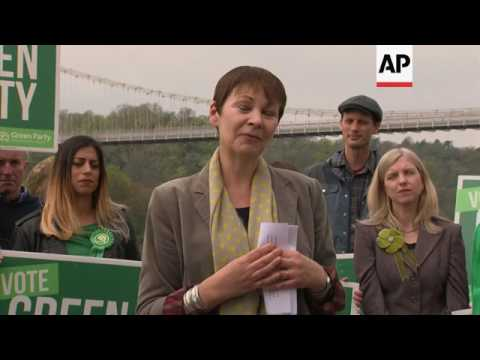 UK Green Party launch election campaign