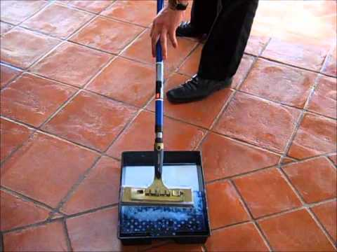 Terracotta Floor Sealing With Tile Doctor Seal Go Youtube