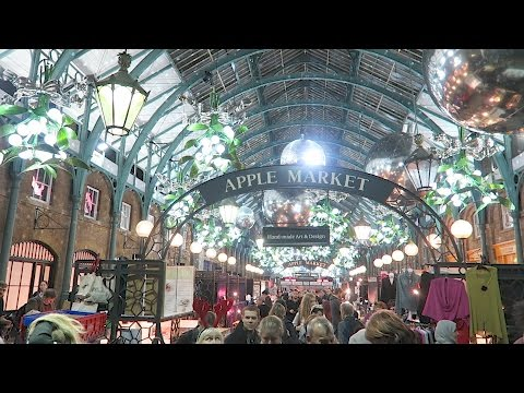 Covent Garden London Christmas Market + Lights 2016