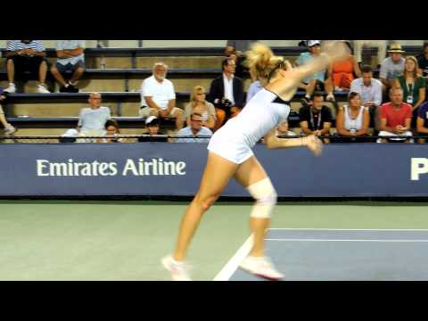 Julia Glushko Vs Yanina Wickmayer At The US Open 2012