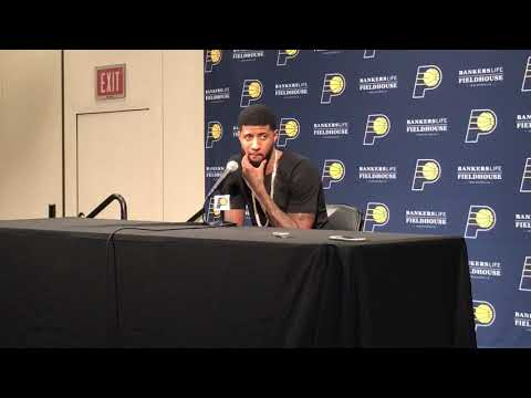 Paul George Return To Indiana Postgame Interview