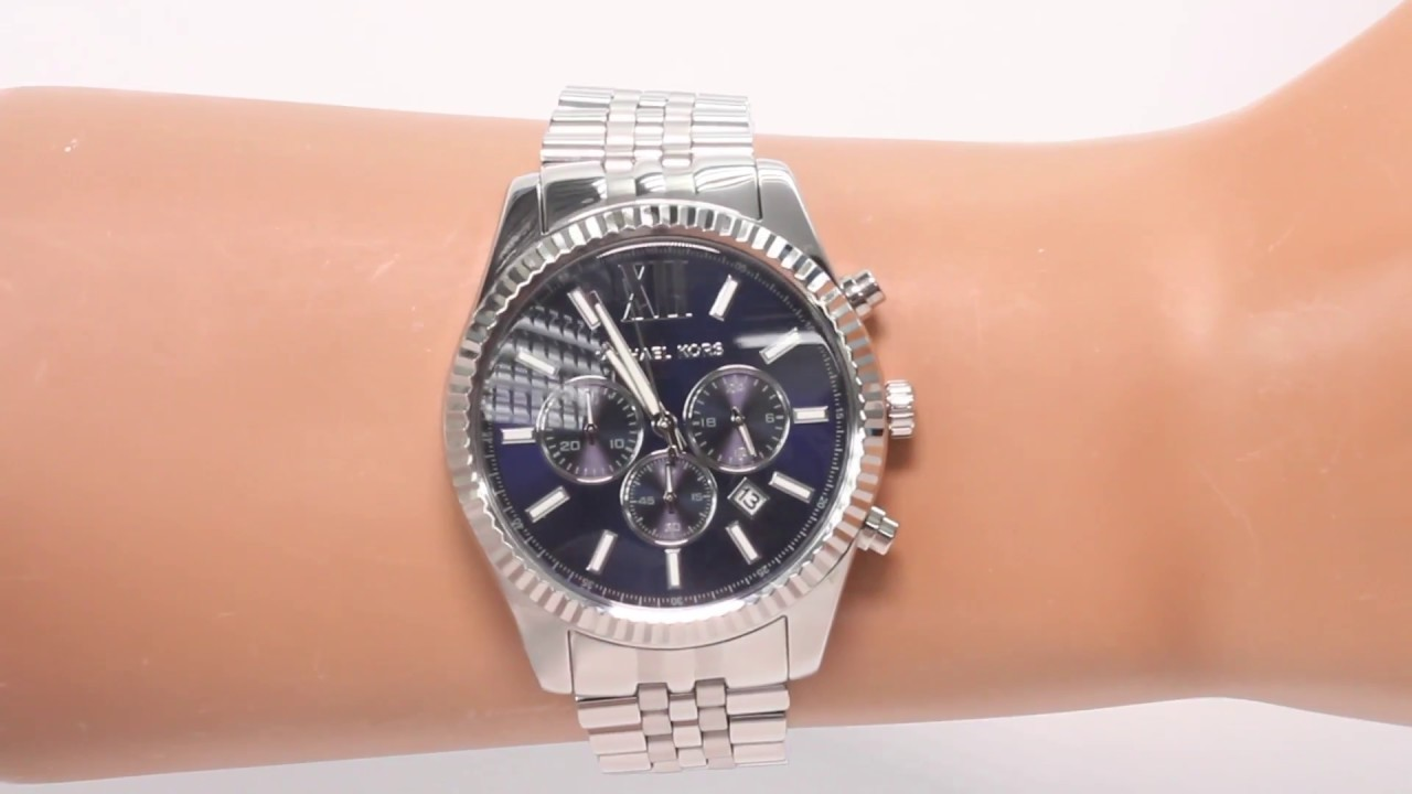 daa4e016ab09 Hands on with the Michael Kors Men s Lexington Steel Chronograph Watch ( MK8280)
