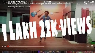 choreographer bhushan dance performance    rehearsals music video micheal jackson moves