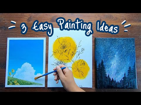 3-easy-painting-ideas-for-beginners-|-step-by-step-|-simple-diy-canvas-home-decor-using-acrylic