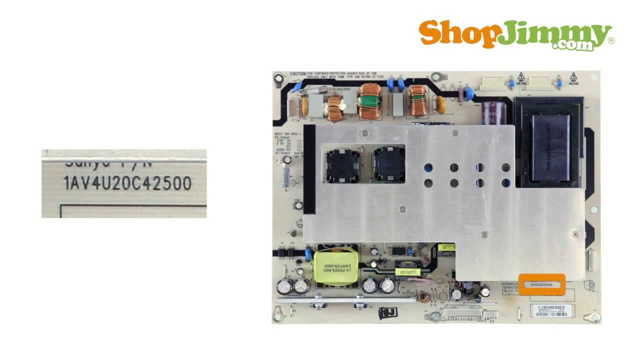 tv part number identification guide for sanyo power supply unit psu boards lcd led plasma tvs youtube [ 1280 x 720 Pixel ]
