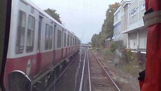 HD MBTA Red Line Cab View Ride: Braintree to JFK/UMass