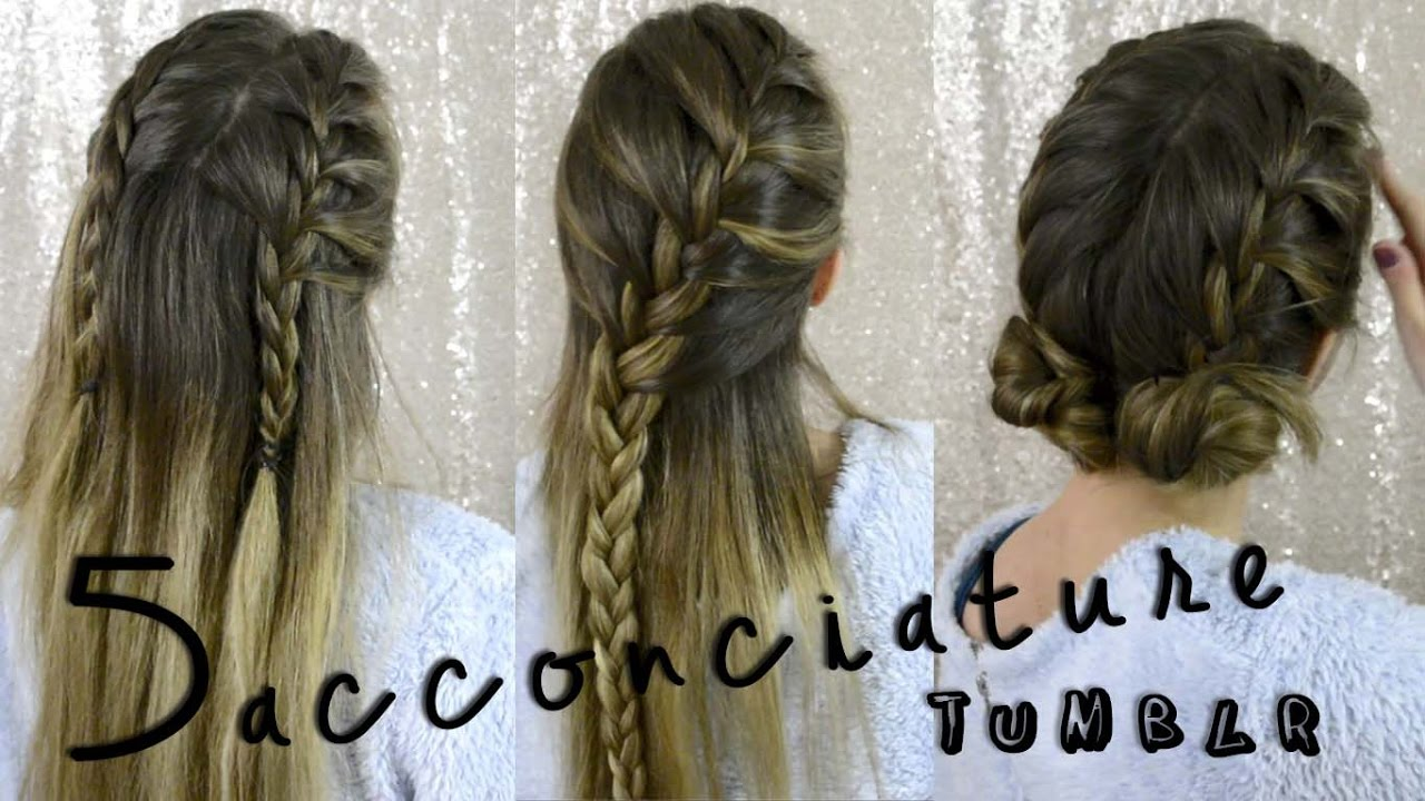Acconciature tumblr per capelli medi
