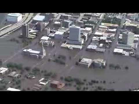 Aerial tour of flooding in Cedar Rapids, Iowa area