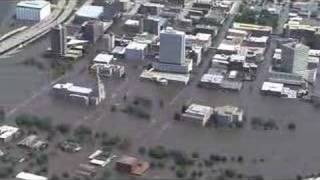 Aerial tour of flooding in Cedar Rapids, Iowa area